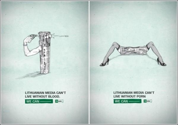 Без чего не могут жить СМИ? Литовская газетная реклама