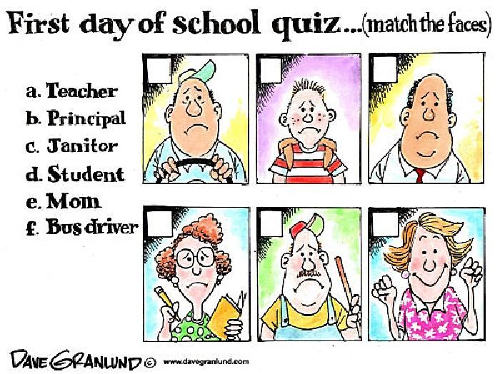 Карикатуры о начале нового учебного года: квиз «Первый день занятий»