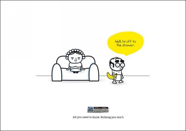 «Я в душ»: забавная реклама полезной газеты