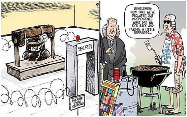 Свобода снова: карикатуры на тему Дня независимости США