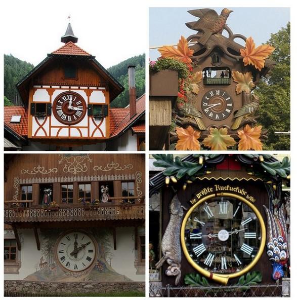 Огромные часы с кукушкой из Шварцвальда, Германия