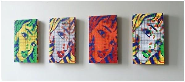 Арт-работы нередко создаются сразу в нескольких цветовых вариантах