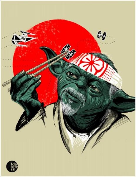 Юмористические рисунки Фернандо Дегросси: вариация на тему *Звездных войн*