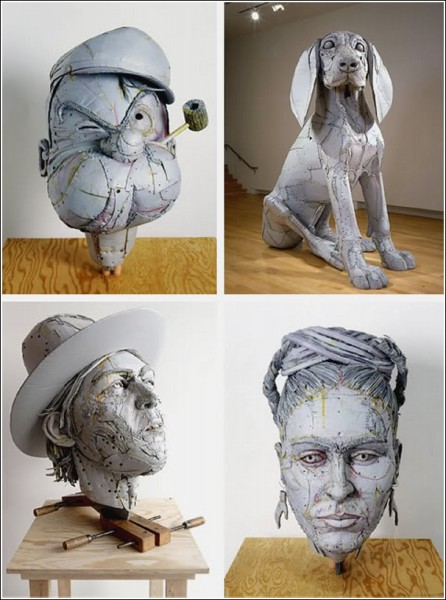 Скульптуры Скотта Файфа - уникальные изделия из картона