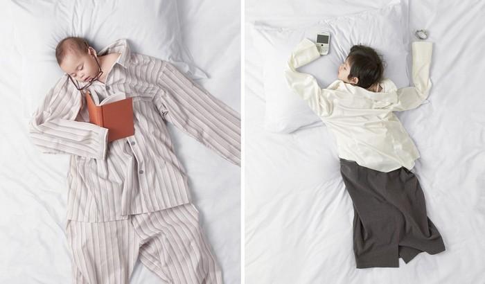 Креативная реклама мебели, на которой можно спать как младенец