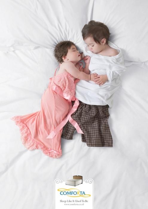 Сладких снов! Креативная реклама мебели для спальни