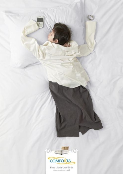Вернитесь в детскую: креативная реклама мебели для спальни