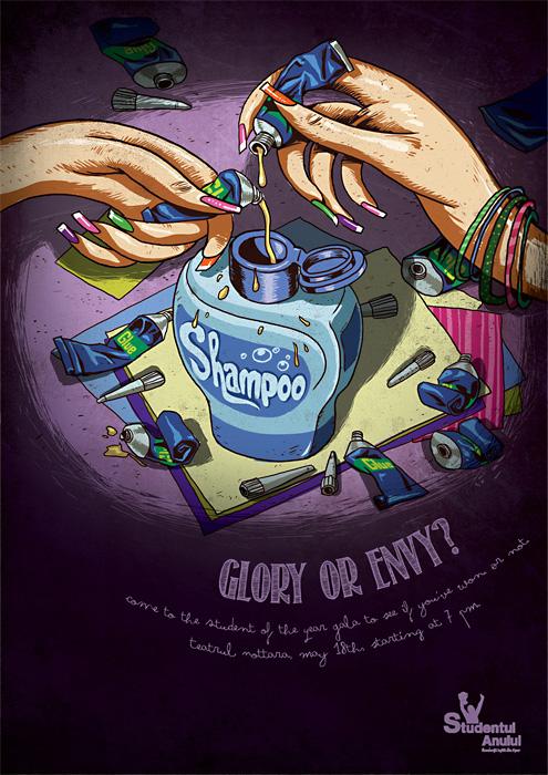 Новый клеевой шампунь. Креативная реклама студенческого конкурса