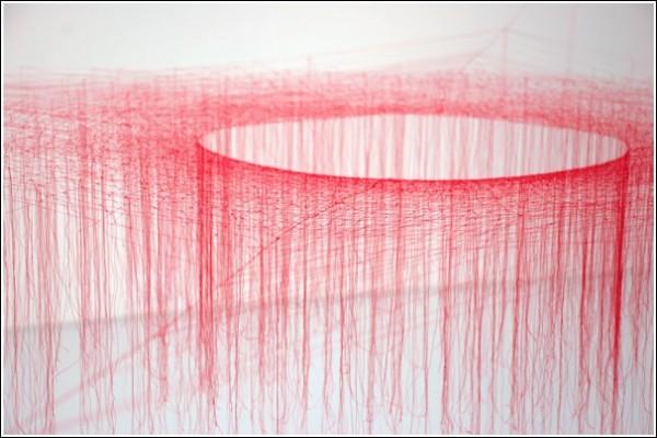 Ажурное плетение из шелковых нитей