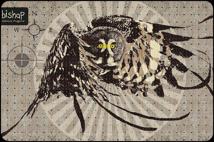 Орнаментальные рисунки Альбины Пугиной: *Хищник*