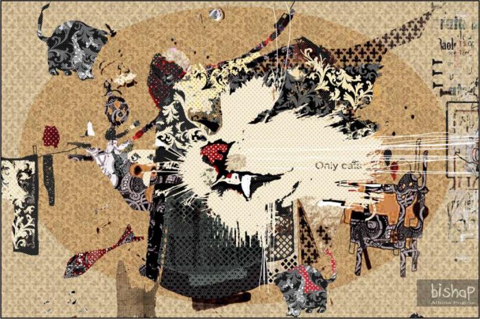 Орнаментальные рисунки Альбины Пугиной: *Мой кот*