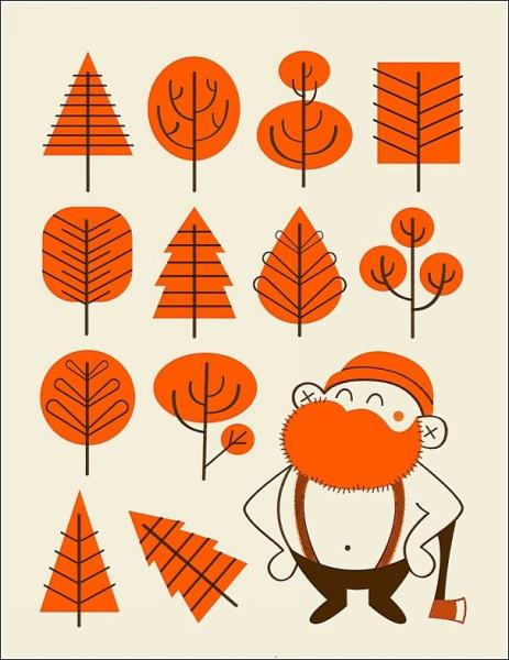 Оранжевый дровосек: яркие рисунки Алекса Вестгейта