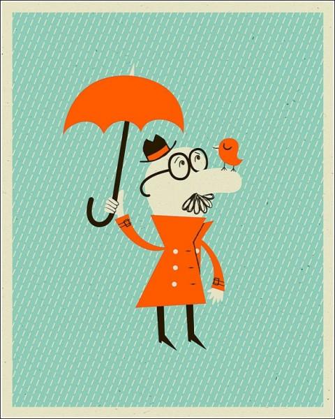 Оранжевые друзья: яркие рисунки Алекса Вестгейта
