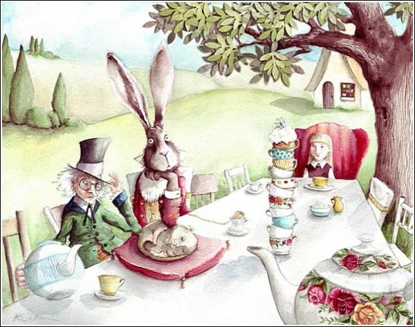 Алиса в стране чудес иллюстрации к