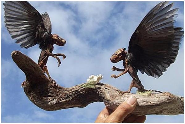 Странные животные Эндрю Ланкастера: опоссумы с крыльями