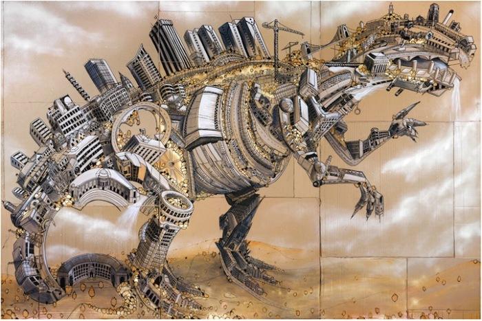 Город-динозавр: современные ископаемые Энди Каунсила