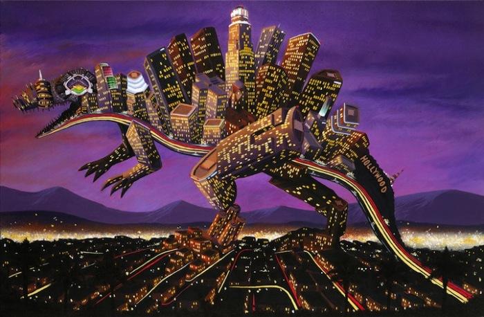Город-динозавр: граффити, рисунки и скульптуры Энди Каунсила