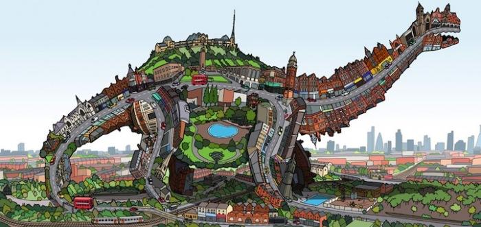 Город-динозавр - один большой организм