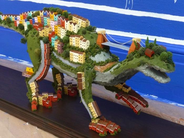Город или динозавр? Граффити, рисунки и скульптуры Энди Каунсила