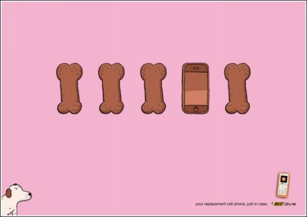 Остроумная реклама мобильных телефонов: ух ты, музыкальная косточка!