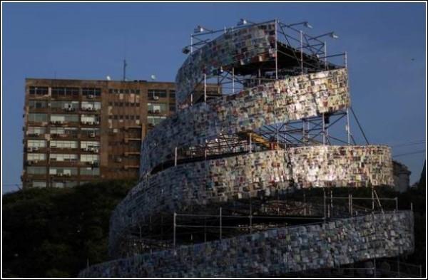 Новая башня в Буэнос-Айресе - подобие Вавилонской библиотеки из одноименного рассказа Борхеса