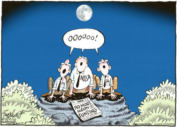 Карикатуристы о финансировании лунной программы: остается только выть