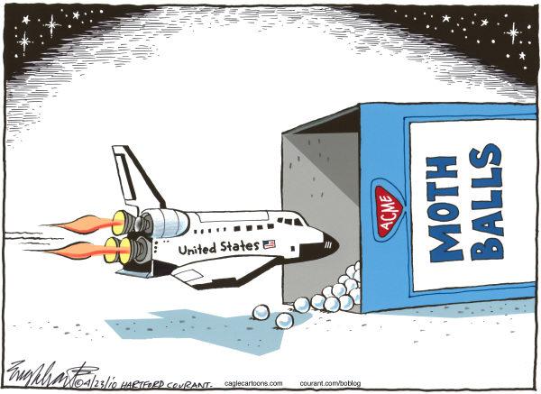 Карикатуристы об американской космической программе: все будет в нафталине!