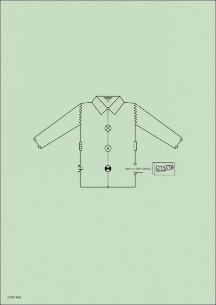 Реклама антистатика для одежды: рубашка