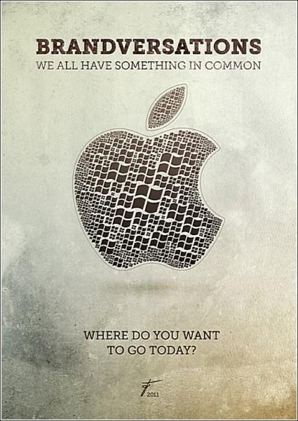 Фирменные логотипы из фирменных логотипов: яблоко из окон