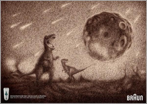 Наши друзья динозавры: оригинальная реклама эпилятора