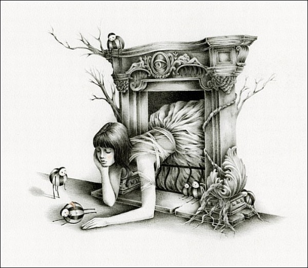 Гостья из камина: сказочные рисунки Кортни Бримс