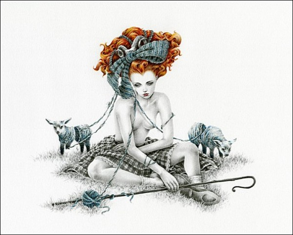 Пряжа и животные: сказочные рисунки Кортни Бримс