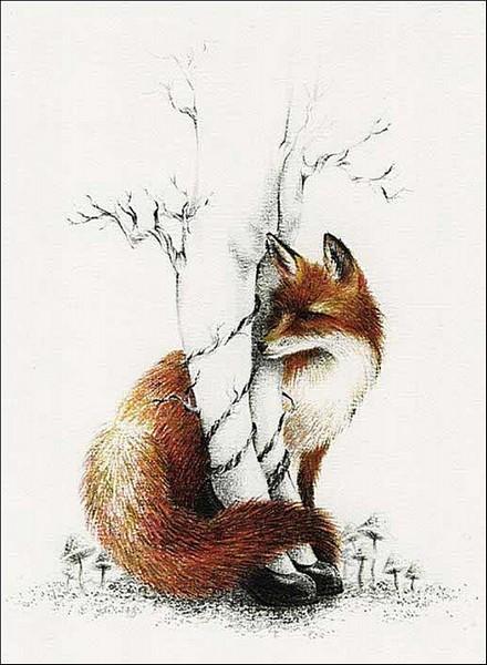Лисица: сказочные рисунки Кортни Бримс