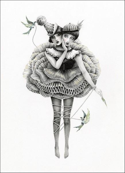 Сиамская история: сказочные рисунки Кортни Бримс