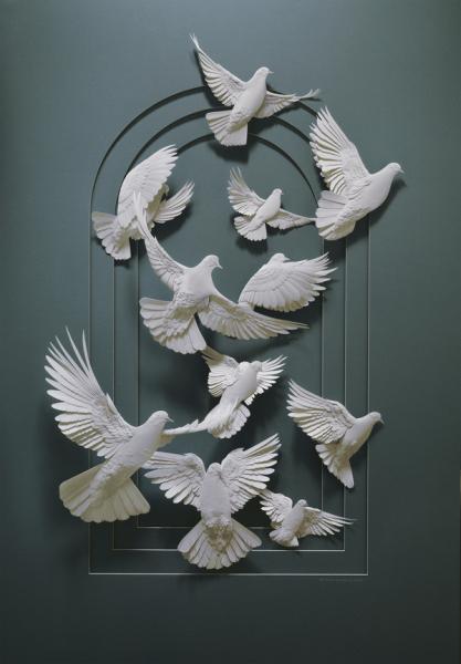 Бумажные животные Кэлвина Николлса: птицы