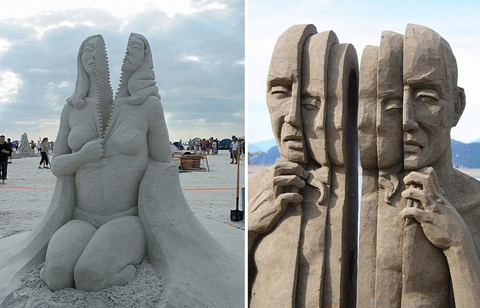Расслоение личности: песчаные скульптуры Карла Джары
