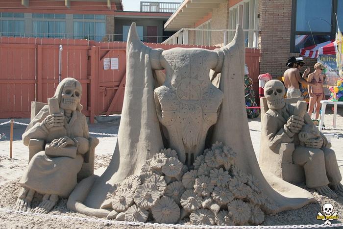 Страшно милые песчаные скульптуры Карла Джары