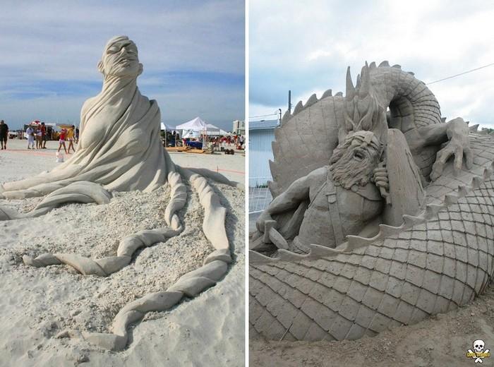 Психология и мифология: песчаные скульптуры Карла Джары