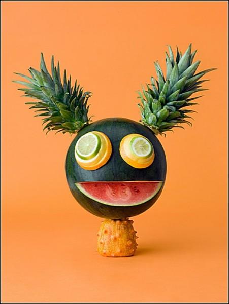 Забавные человечки и зверушки: плодово-овощное веселье