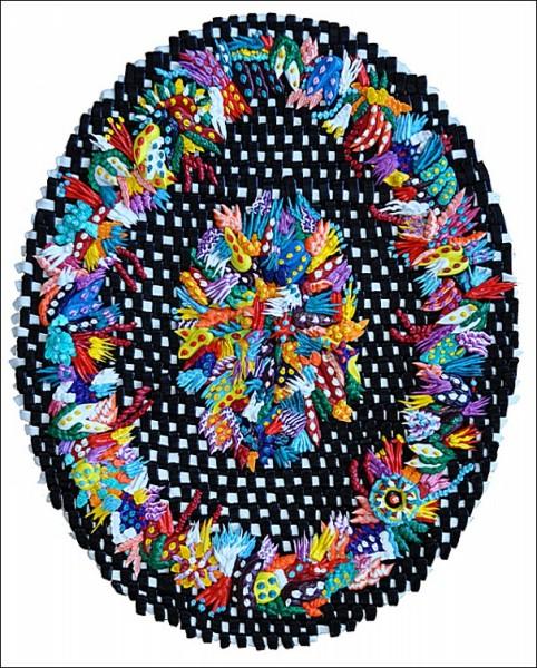 Необычные картины Каролины Ларсен: и вовсе не салфетка
