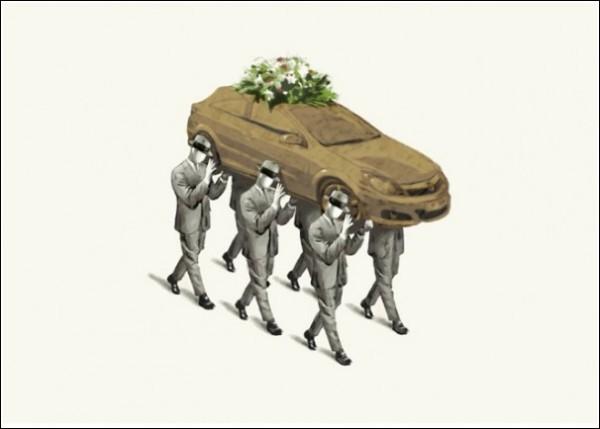 Философские картины Марселя Сеппена: *Смерть «Опеля»*