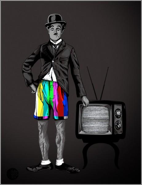 Юмористические рисунки Фернандо Дегросси: настроечный Чарли