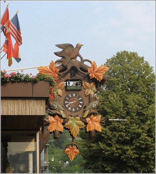 Огромные часы из Санкт-Гоара