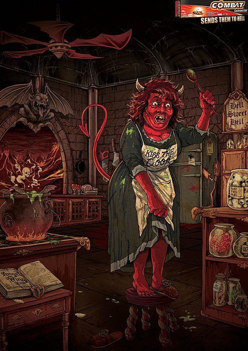 Забавная реклама геля от тараканов: «Hell, sweet hell»