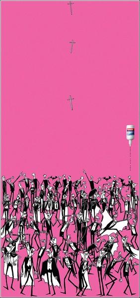 Вампиры и кресты: реклама капель от насморка