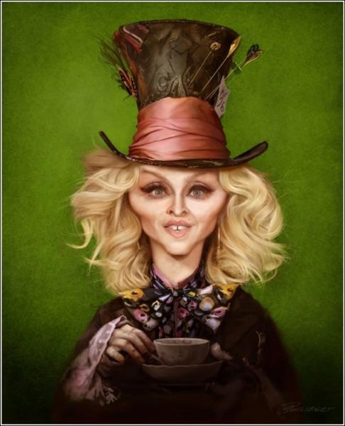 Мадонна в образе Безумного Шляпника: *MadOnna Hatter*