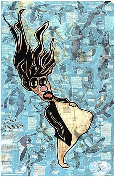 Карта миграции птиц: мужская версия