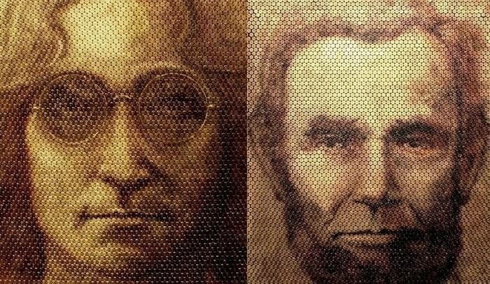 Портреты на стреляных гильзах: необычные картины Дэвида Палмера