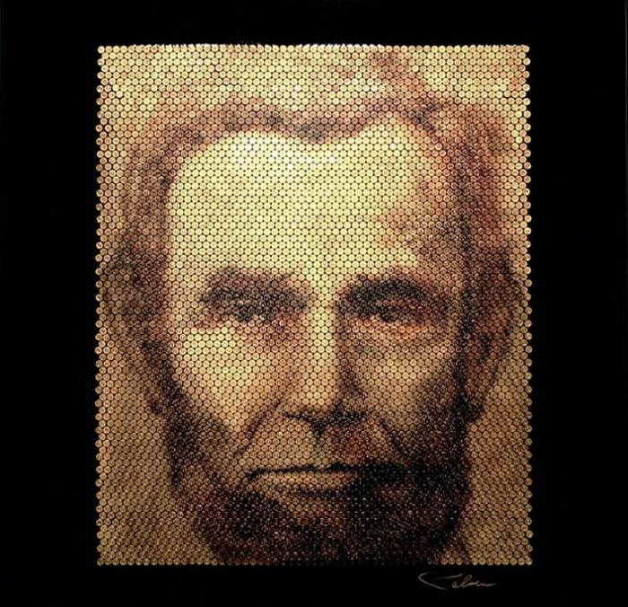 Портреты на стреляных гильзах: Авраам Линкольн
