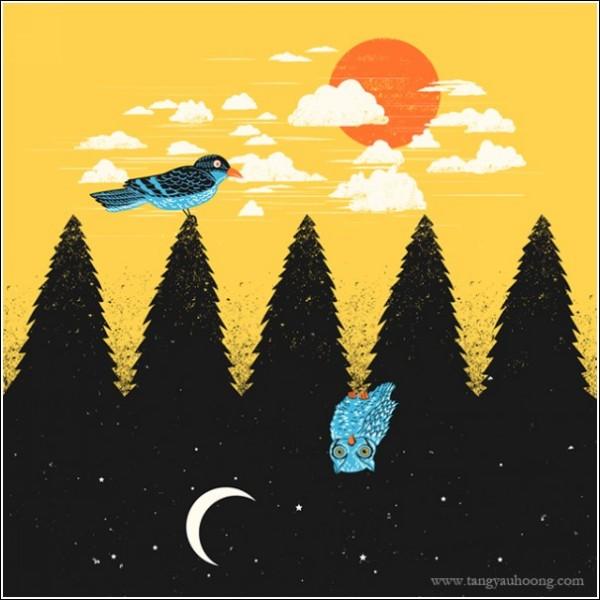 Картины-иилюзии Яу Хунг Танга: *День или ночь?*